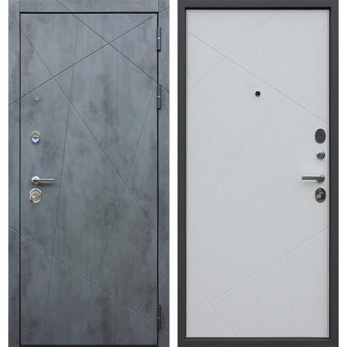 Входная дверь - АСД «Дуэт Б» белый матовый