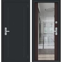 Входная дверь Глори Муар антрацит/Wenge Veralinga