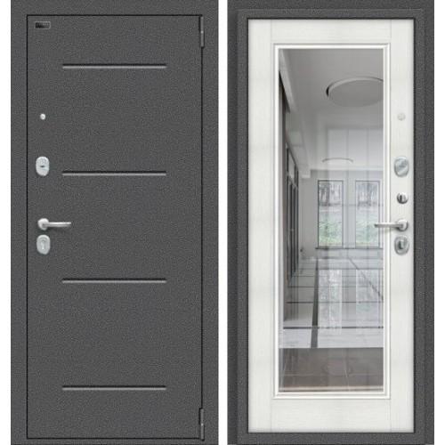 Входная дверь - Porta S 104.П61 Антик Серебро/Bianco Veralinga