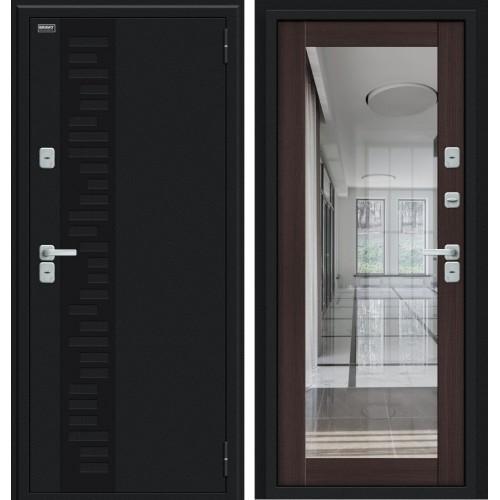 Дверь с терморазрывом Thermo Флэш Декор Букле черное/Wenge Veralinga