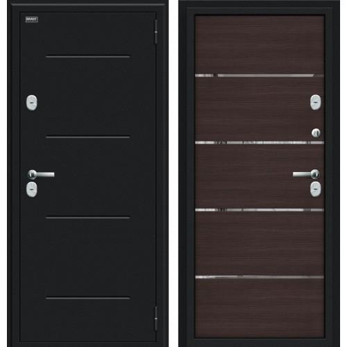 Дверь с терморазрывом Браво Thermo Лайн Букле черное/Wenge Veralinga