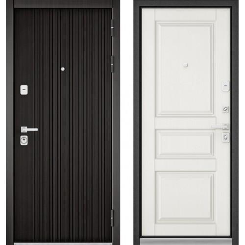 Входная дверь - PREMIUM 90 (ЛАРЧЕ ТЕМНЫЙ 9Р-131/Дуб белый матовый 9РD-2)