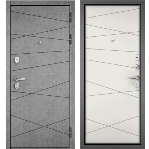Входная дверь - STANDART 90 (PPШтукатурка серая 9S-130/Белый софт 9S-130