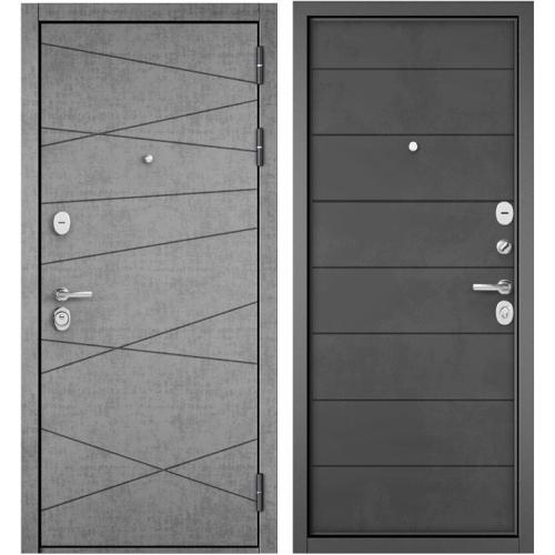 Входная дверь - STANDART 90 (PPШтукатурка серая 9S-130/Бетон темный 9S-135)