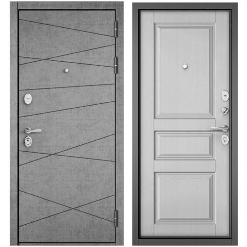 Входная дверь - STANDART 90 (PPШтукатурка серая 9S-130 /Дуб белый матовый 9SD-2 )