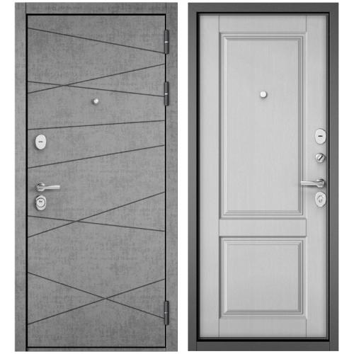 Входная дверь - STANDART 90 (PPШтукатурка серая 9S-130 /Дуб белый матовый 9SD-1 )