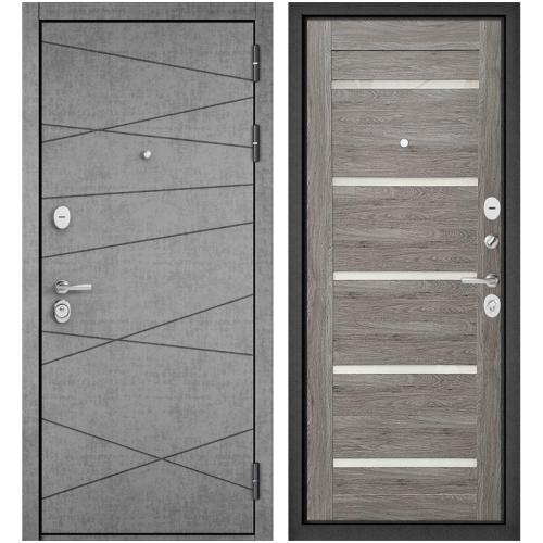 Входная дверь - STANDART 90 (PPШтукатурка серая 9S-130/Дуб дымчатый GR-3)