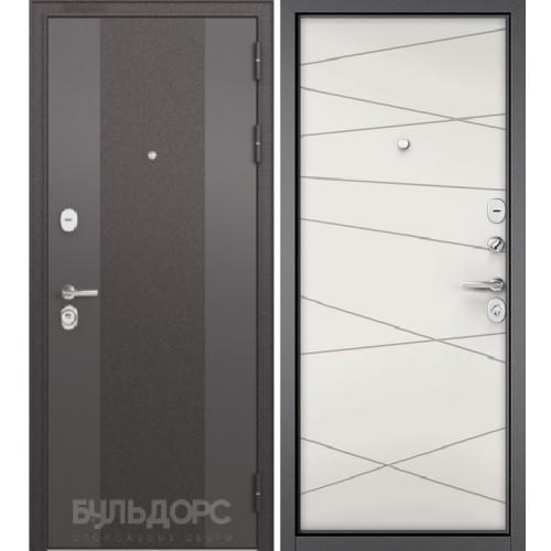 Входная дверь - STANDART 90 (МР Черный шелк 9К-4/Белый софт 9S-130