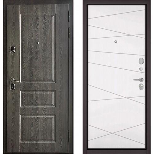 Входная дверь - STANDART - 90 (РР Дуб графит 9SD-2/Белый софт 9S-130