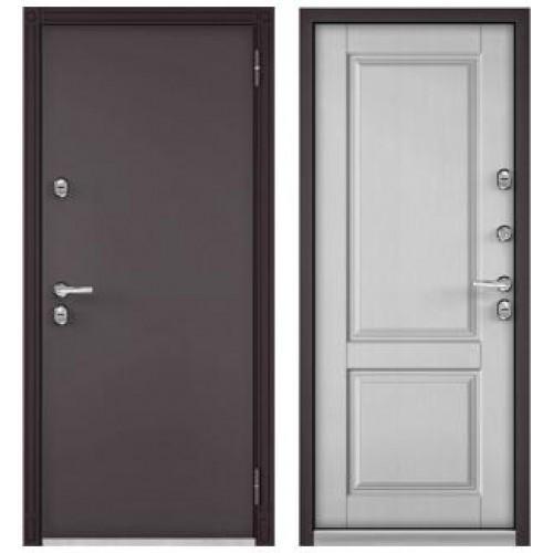 Входная дверь - ТЕРМО-100 Букле шоколад/ДУБ ШАЛЕ БЕЛЫЙ, 10 TD-1