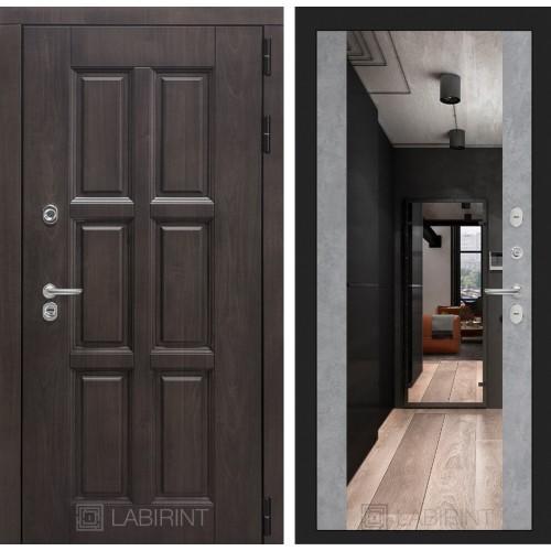 Входная дверь с терморазрывом Лабиринт Лондон с зеркалом максимум Бетон светлый