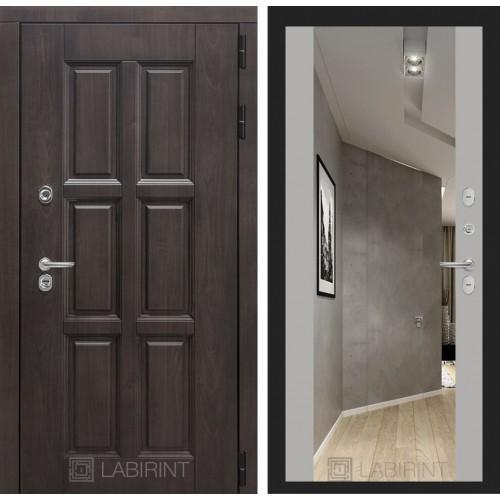 Входная дверь с терморазрывом Лабиринт Лондон с зеркалом максимум грей софт