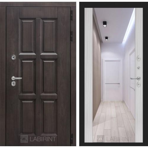 Входная дверь с терморазрывом Лабиринт Лондон с зеркалом максимум сандал