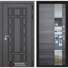 Входная дверь - NEW YORK с Зеркалом - Сандал серый горизонтальный