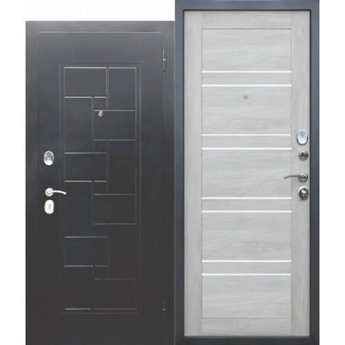 Входная дверь ГАРДА Серебро Царга Шале белый