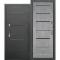 Входная дверь 11 см ISOTERMA Букле чёрный Царга Бетон серый