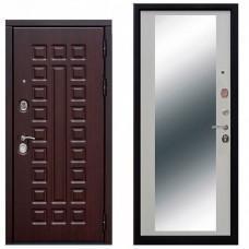 Входная дверь - 12 см Сенатор зеркало Белый ясень