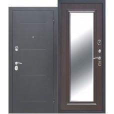 Входная дверь - 7,5 см GARDA Серебро Зеркало Фацет Венге