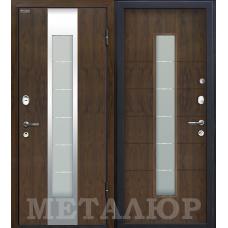 Входная дверь - МеталЮр М34 Темный орех