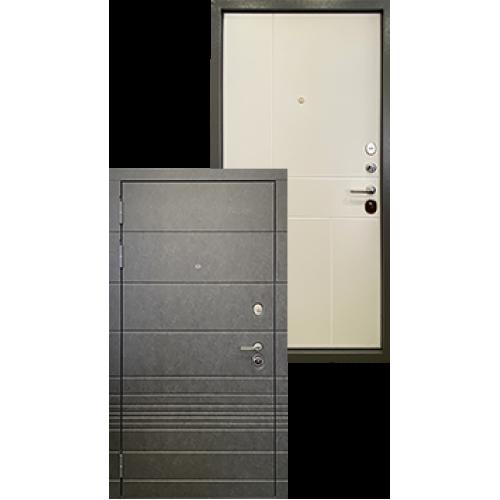 Входная дверь - Ратибор Мегаполис 3К Силк сноу