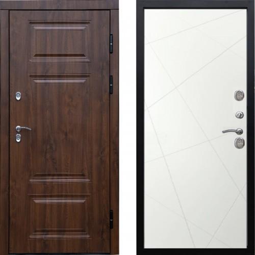 Входная дверь с терморазрывом - Сибирь термо премиум Винорит белые лучи(TD)