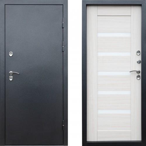 Входная дверь с терморазрывом - Сибирь термо серебро графит царга (TD)
