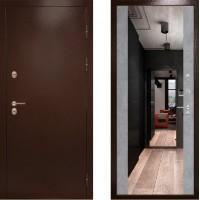 Входная дверь с терморазрывом -  Сибирь термо зеркало бетон (TD)