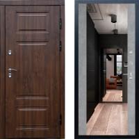 Входная дверь с терморазрывом -  Сибирь термо премиум Винорит зеркало бетон (TD)