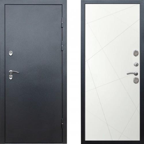 Входная дверь с терморазрывом - Сибирь термо антик серебро белые лучи (TD)