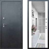 Входная дверь с терморазрывом -  Сибирь термо серебро графит зеркало белый (TD)