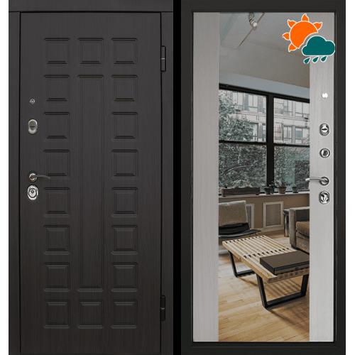 Входная дверь - Сенатор 2К венге/Белая лиственница зеркало