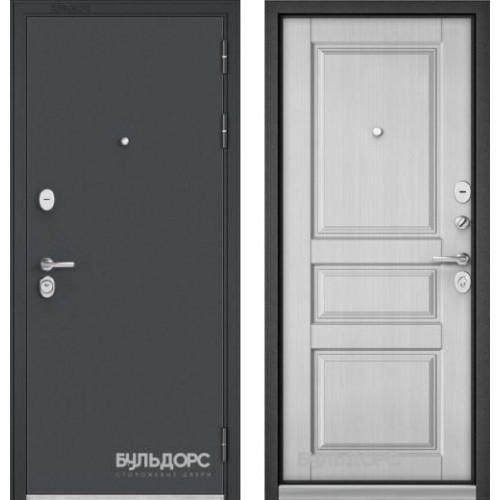Входная дверь - Бульдорс STANDART 90 Черный шелк / ларче белый9SD-2