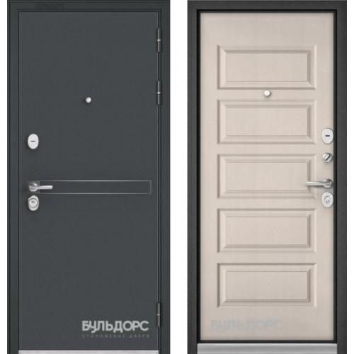 Входная дверь - STANDART - 90 (МР Черный шелкD-4/Дуб светлый матовый 9S-108)