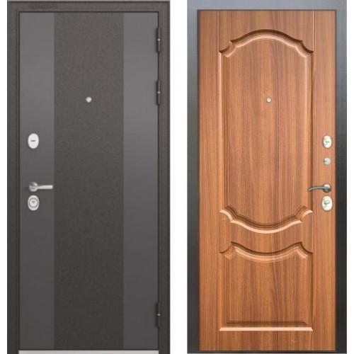 Входная дверь - STANDART 90 (МР Черный шелк 9К-4/Орех лесной 9SD-4) Серия: Бульдорс STANDART-90