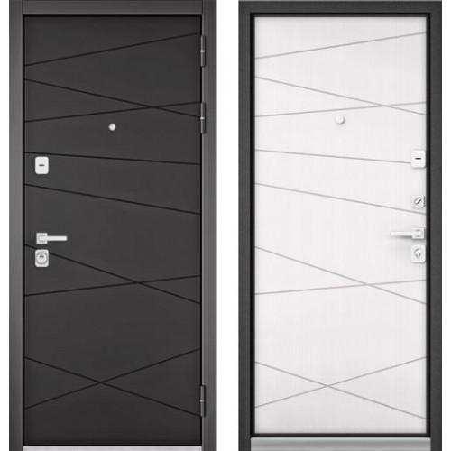 """Входная дверь - Бульдорс PREMIUM 90 Графит софт 9Р-130, Цвет """"Белый софт"""" 9Р-130"""
