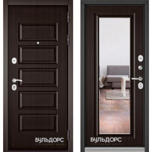 Входная дверь - MASS-90(РР Ларче шоколад 9S-108 / Ларче шоколад зеркало 9S-140)