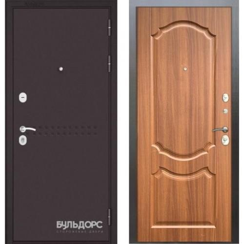 Входная дверь - Бульдорс MASS-90( Букле шоколадR-4 /орех лесной 9SD4)