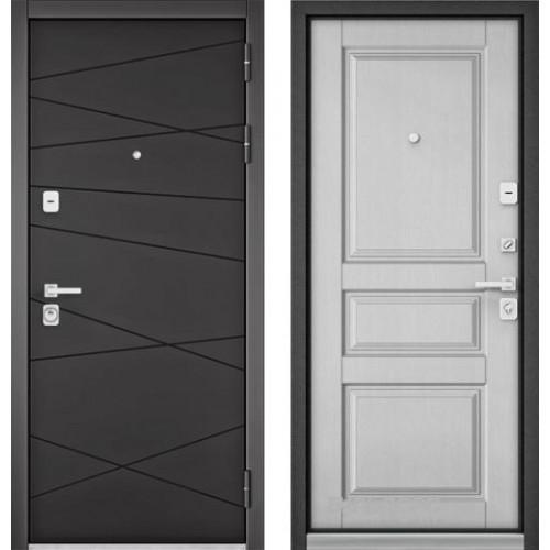 """Входная дверь - Бульдорс PREMIUM 90 Графит софт 9Р-130, Цвет """"Дуб белый матовый"""""""