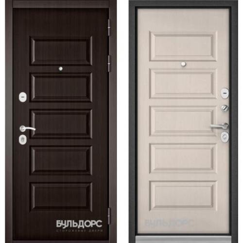 Входная дверь - Бульдорс MASS-90 (РР Ларче шоколад 9S-108/ Дуб светлый матовый 9S-108 )