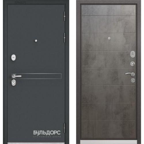 """Входная дверь - Бульдорс STANDART 90 Чёрный шелк D-4, Цвет """"Бетон темный"""""""