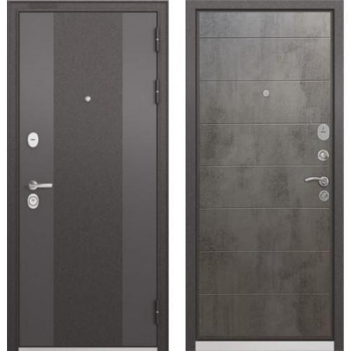 """Входная дверь - Бульдорс STANDART 90 Чёрный шелк 9К-4, Цвет """"Бетон темный"""""""