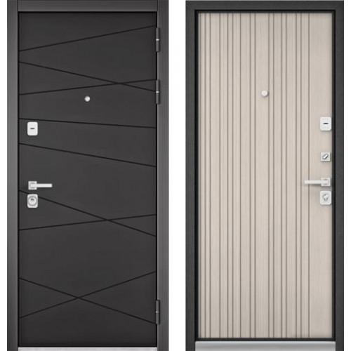 """Входная дверь - Бульдорс PREMIUM 90 Графит софт 9Р-130, Цвет """"Ларче бьянко"""""""