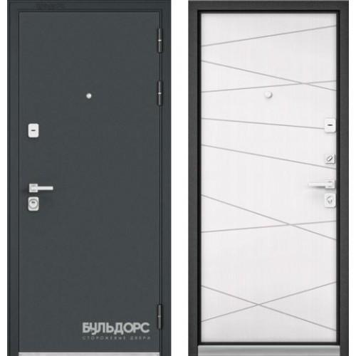 Входная дверь - PREMIUM 90 Черный шелк /Белый софт 9Р-130