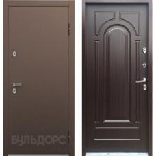 Входная дверь - Дверь Бульдорс ТЕРМО-1Букле шоколад/Ларче темный рис.Т102 хром