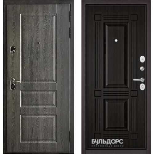 Входная дверь - Бульдорс STANDART 90(РР Дуб графит 9SD-2/Ларче темный 9S-104)