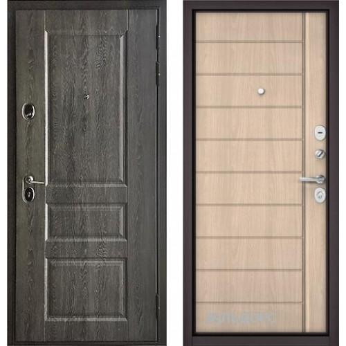 Входная дверь - Бульдорс STANDART 90 (РР Дуб графит 9SD-2/Ясень ривьера крем 9S-136 )