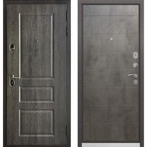 Входная дверь - Бульдорс STANDART - 90 (РР Дуб графит 9SD-2/ Бетон темный 9S-135 )