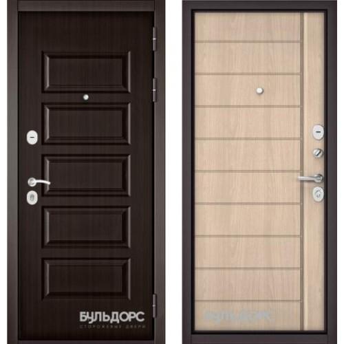 Входная дверь - MASS-90(РР Ларче шоколад 9S-108 /Ясень ривьера крем 9S-136 )