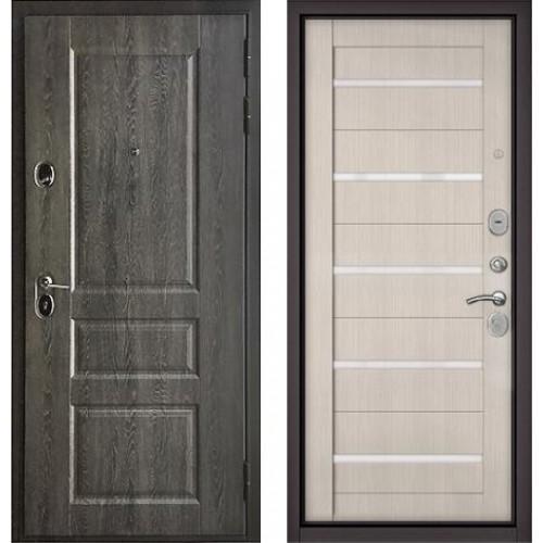 Входная дверь - STANDART 90 (РР Дуб графит 9SD-2/ Дуб жемчужный GR-3 Lakobel Cristal)