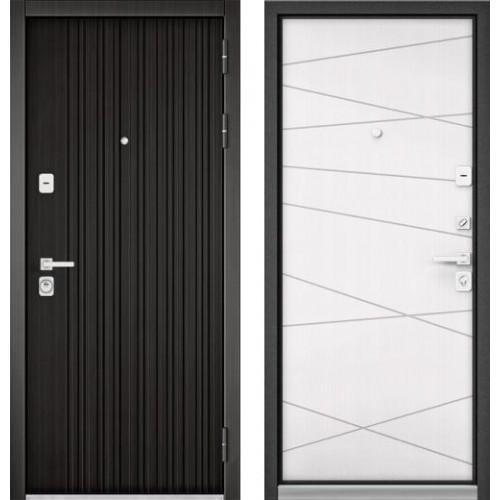 Входная дверь - PREMIUM 90 (ЛАРЧЕ ТЕМНЫЙ 9Р-131/ Белый софт 9Р-130)